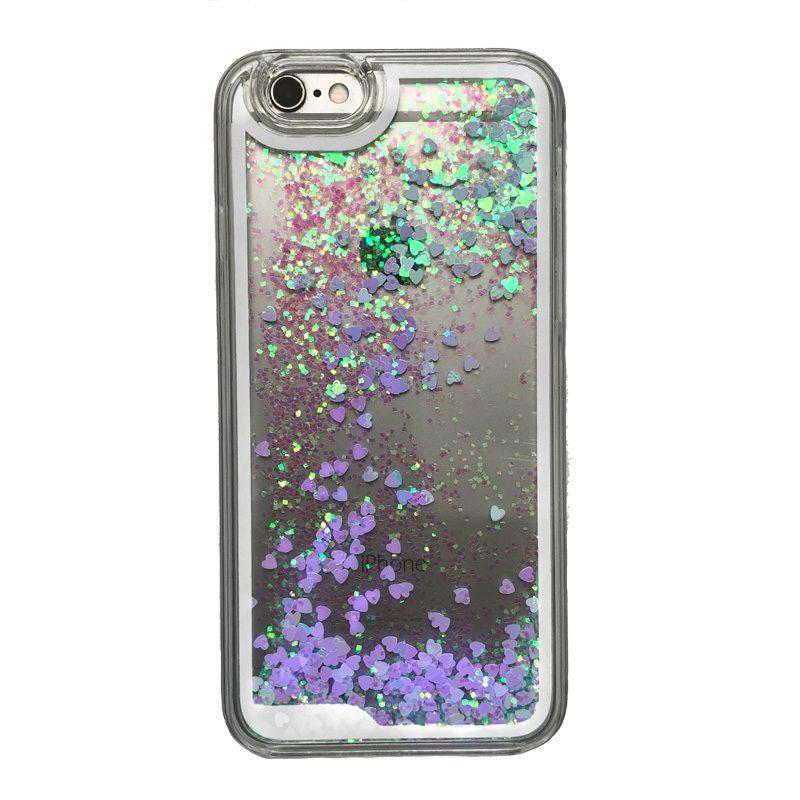Apple iPhone 6/6S presýpací plastový kryt Blue Liquid 1