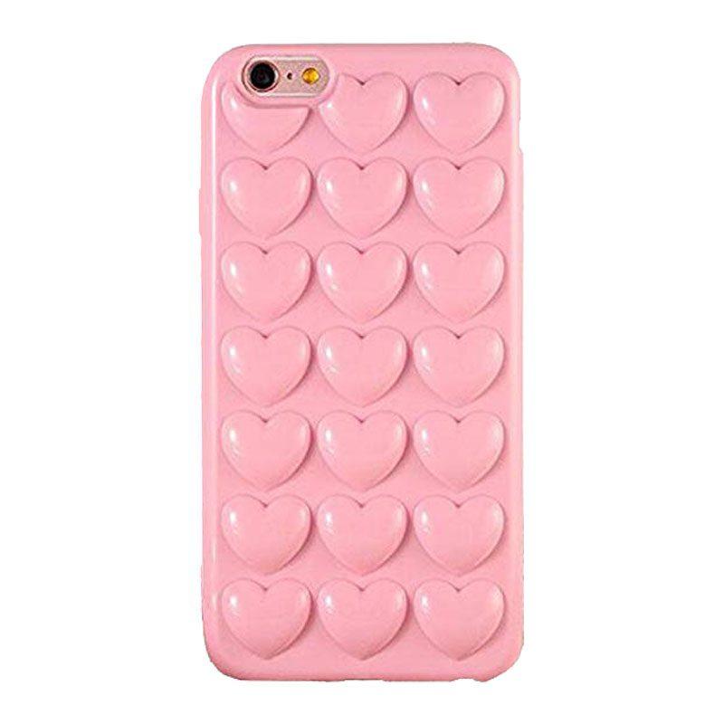 Silikónový 3D kryt na iPhone 6/6S Light Pink