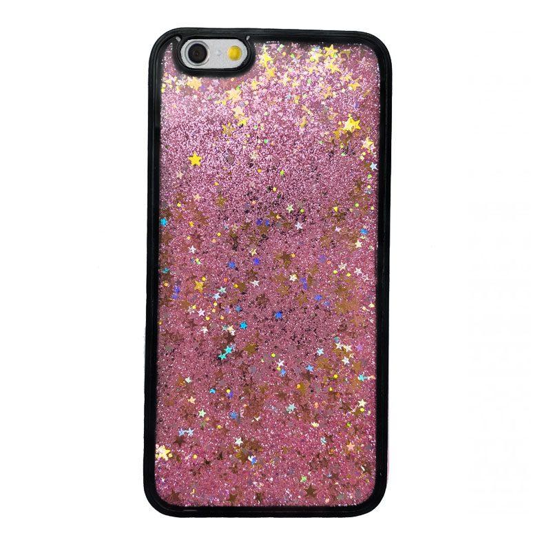 Plastový kryt iPhone 6 Plus/6S Plus presýpací Pink Liquid