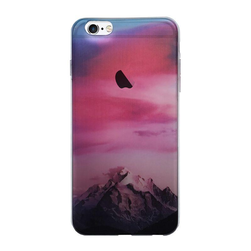 Silikónový kryt na iPhone 6 Plus/6S Plus Red Mountains