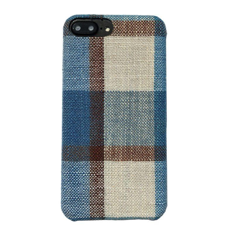 Plastový kryt na iPhone 7/8 Plus potiahnutý látkou Blue Cappuccino