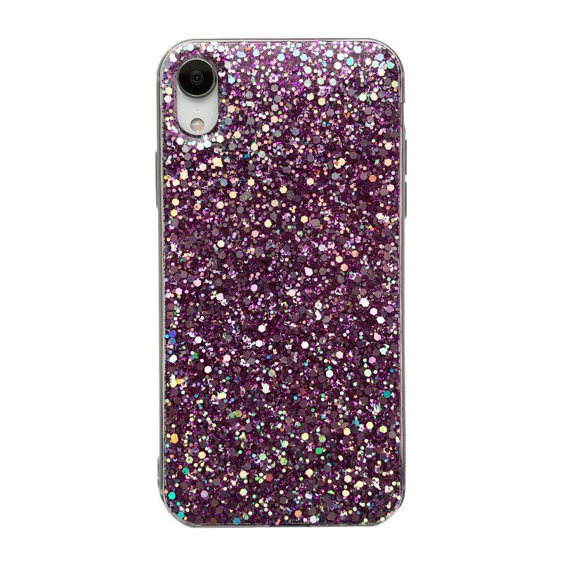 Silikónový kryt na iPhone XR Purple Sparkling