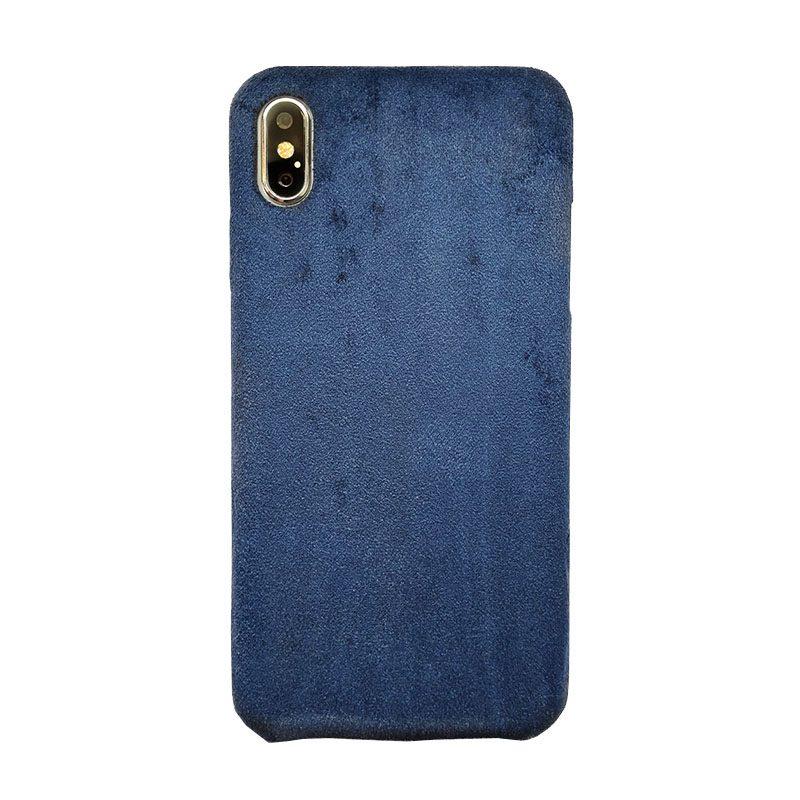 Plastový kryt na iPhone XS Max Blue Suede