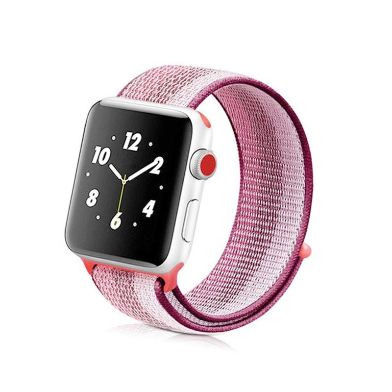 Remienok na Apple Watch 42mm/44mm látkový Pink