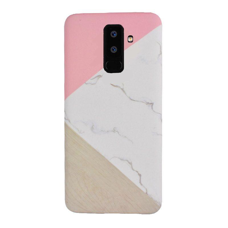 Silikónový kryt na Samsung Galaxy A6 Plus 2018 Pink Marble