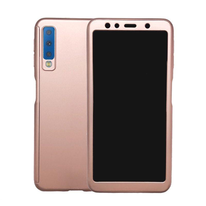 Plastový kryt na Samsung Galaxy A7 2018 celoplošný 360° Pink