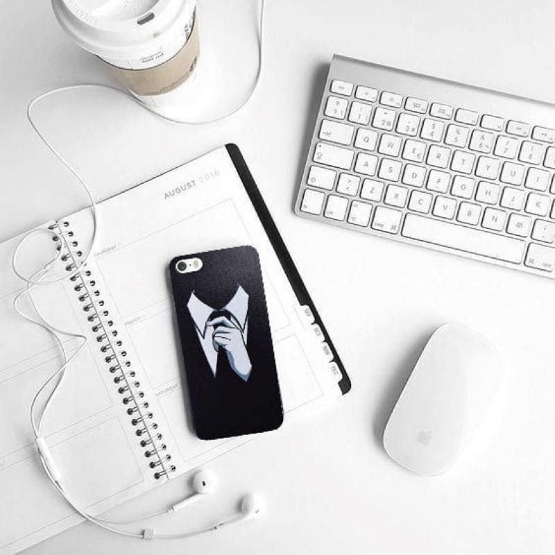 Silikónový kryt na iPhone 6/6S Tie Black