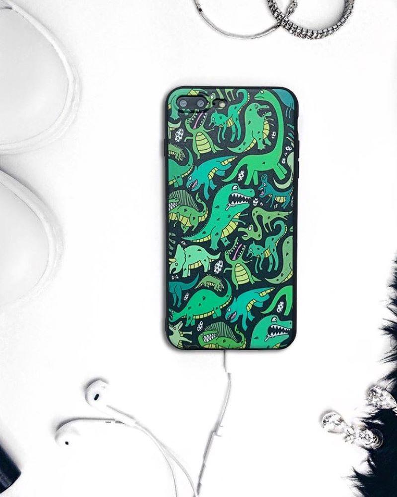 Silikónový kryt na iPhone 7/8 Plus Green Monsters