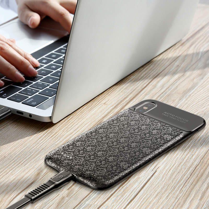 Baseus kryt s batériou 3500mAh pre Apple iPhone X Black