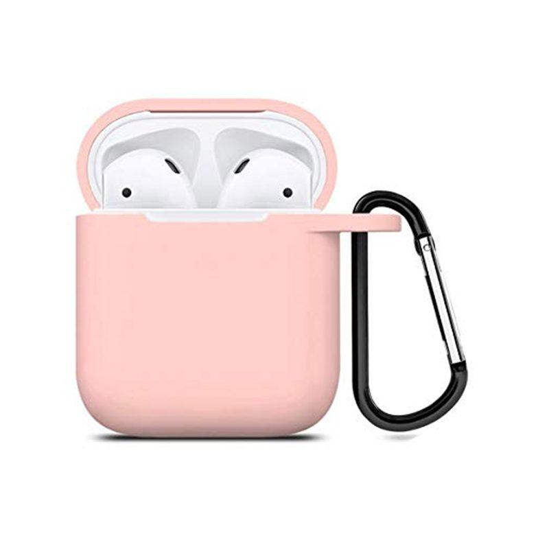 Obal na AirPods silikónový s držiakom Light Pink