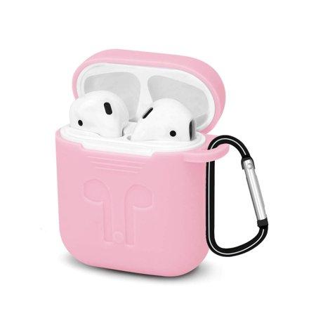 Obal na AirPods silikónový s držiakom Pink