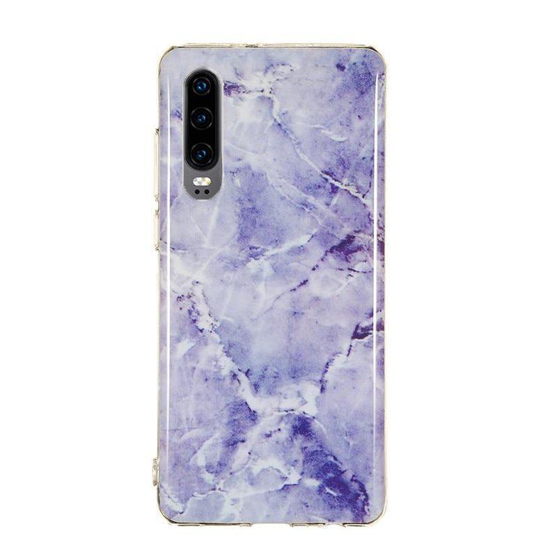 Silikónový kryt na Huawei P30 Purple Marble