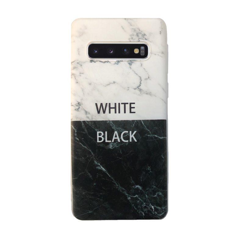 Silikónový kryt na Samsung Galaxy S10 Black and White