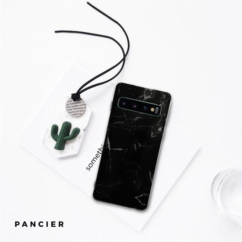 Silikónový kryt na Samsung Galaxy S10 čierny mramor
