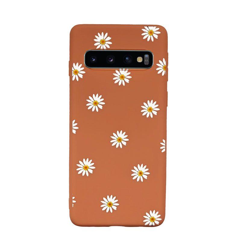 Silikónový kryt na Samsung Galaxy S10 s kvietkami