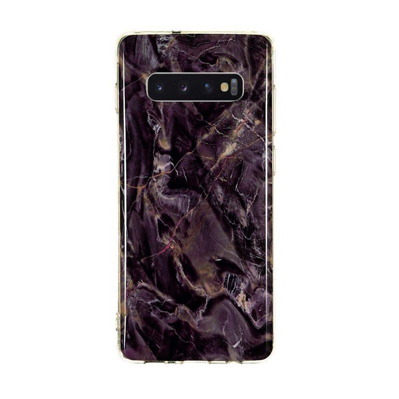 Silikónový kryt na Samsung Galaxy S10 Brown Marble