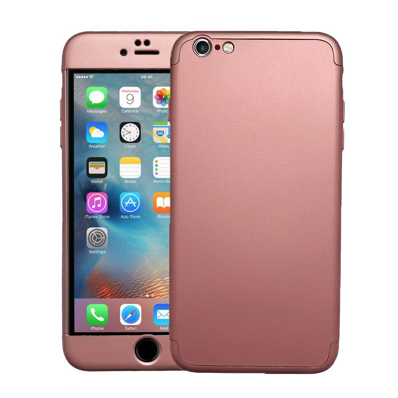 Plastový kryt na iPhone 6 Plus/6S Plus celoplošný 360° Rose Gold