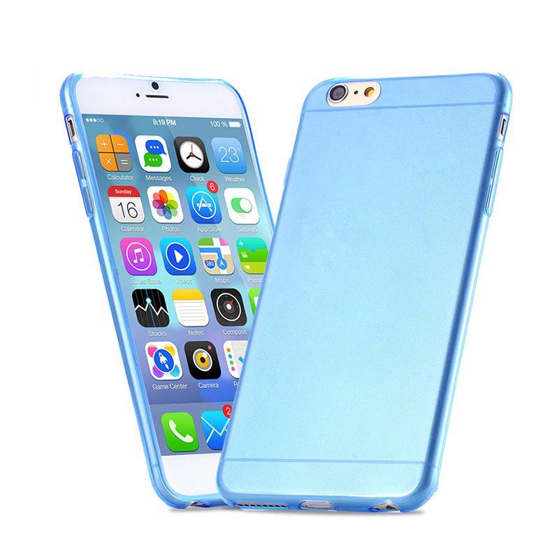 Silikónový kryt na iPhone 6 Plus/6S Plus Clear Blue
