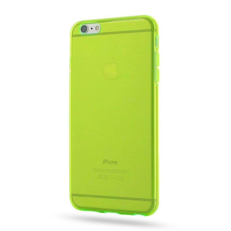 Silikónový kryt na iPhone 6 Plus/6S Plus Neon Yellow