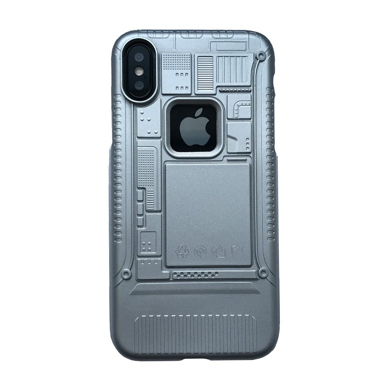 Apple iPhone X/XS armor plastový kryt Grey 2