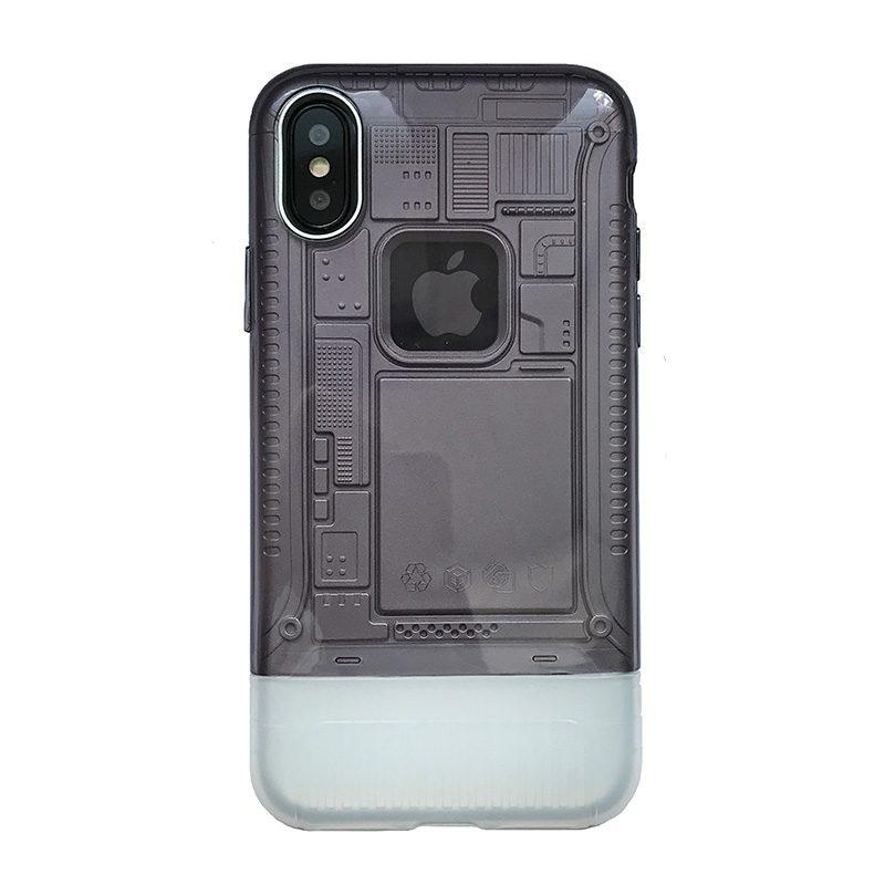 Apple iPhone X/XS armor plastový kryt Grey 1