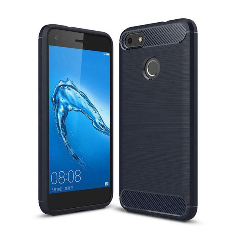 Huawei P9 Lite Mini silikónový kryt Carbon Blue 1