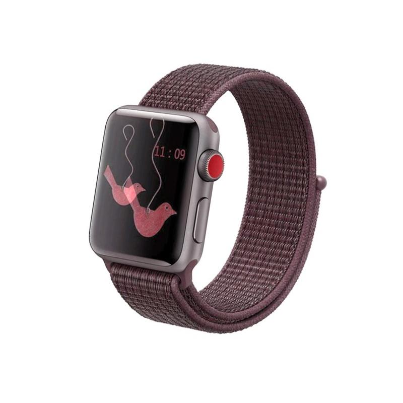Apple Watch 42mm/44mm látkový remienok Purple Smoke