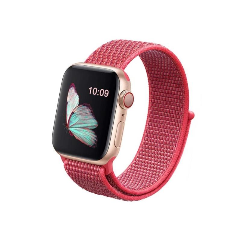 Apple Watch 38mm/40mm látkový remienok Hibiscus