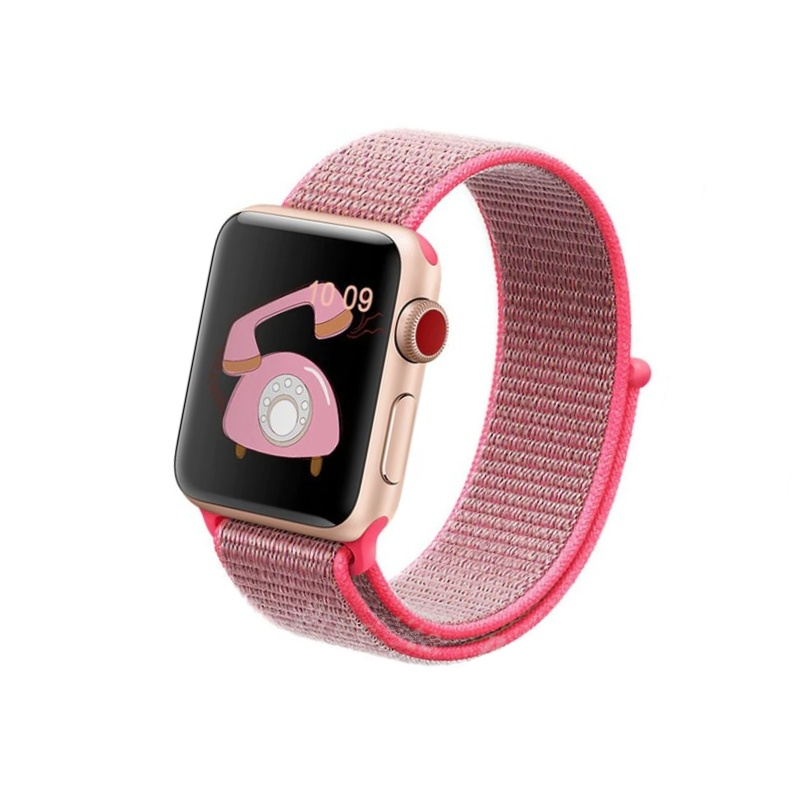Apple Watch 38mm/40mm látkový remienok Hot Pink