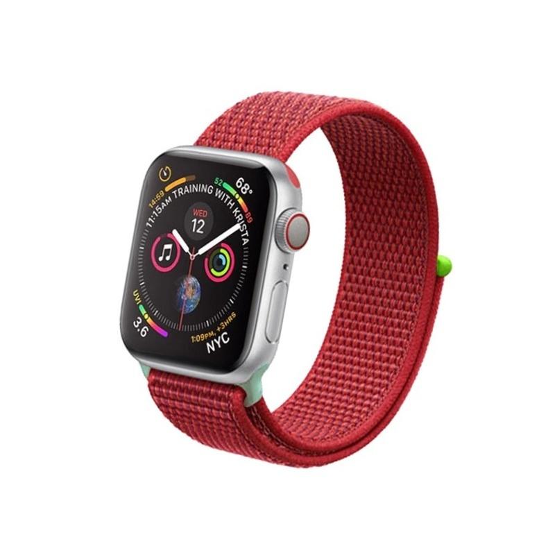 Apple Watch 42mm/44mm látkový remienok Red Hit