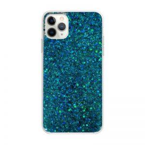 Apple iPhone 11 Pro Max silikónový kryt Blue Sparkling