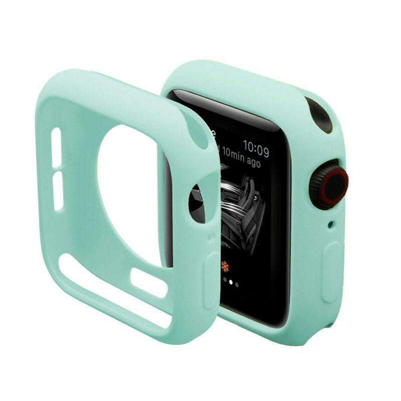 Obal na Apple Watch 44mm silikónový Mint