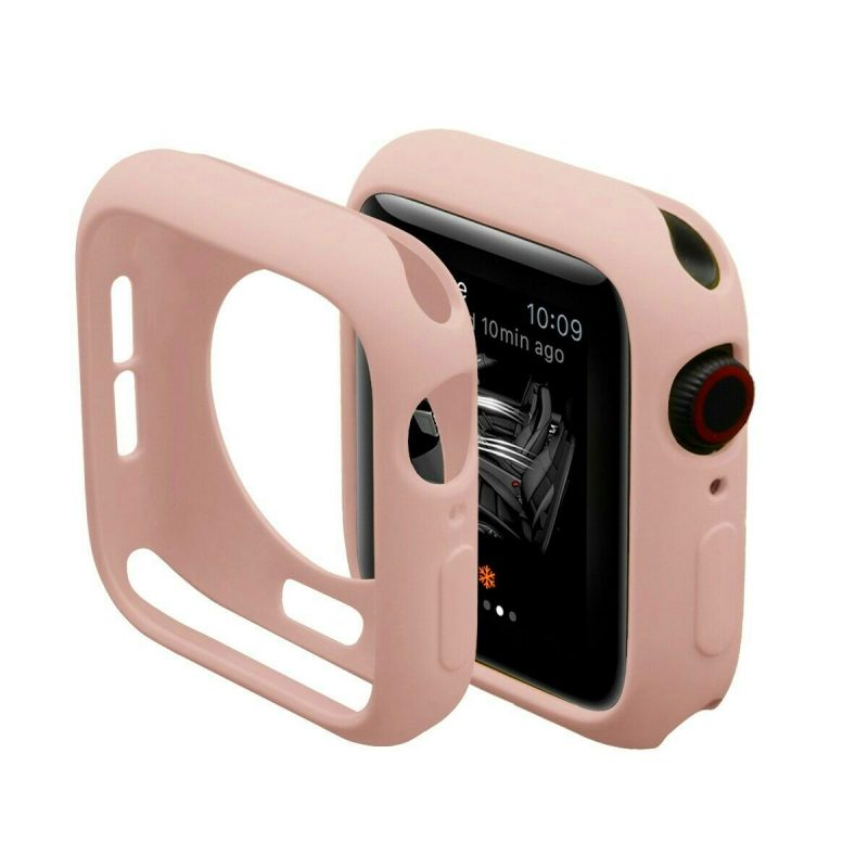 Obal na Apple Watch 44mm silikónový Pink