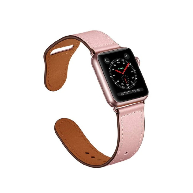 Remienok na Apple Watch 38mm/40mm kožený Rose Pink