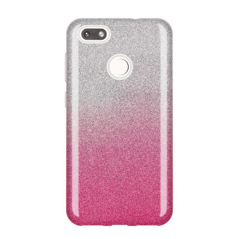Huawei P9 Lite Mini silikónový kryt Pink sparkling