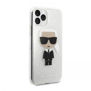 Karl Lagerfeld iPhone 11 Pro silikónový kryt Silver Ikonik