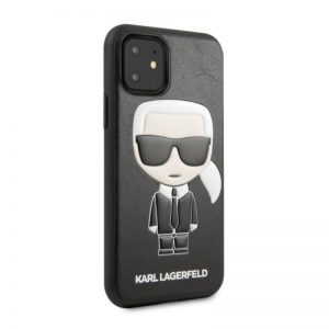 Karl Lagerfeld iPhone 11 kožený kryt Black Iconic