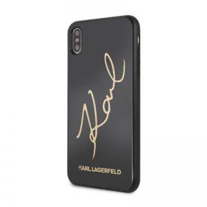 Karl Lagerfeld iPhone XS Max Signature Glitter Black