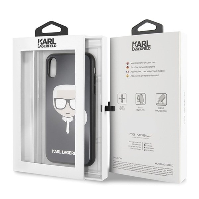 Karl Lagerfeld iPhone Xr Iconic Black