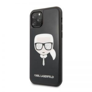 Karl Lagerfeld kryt na iPhone 11 Pro Black Iconic Head