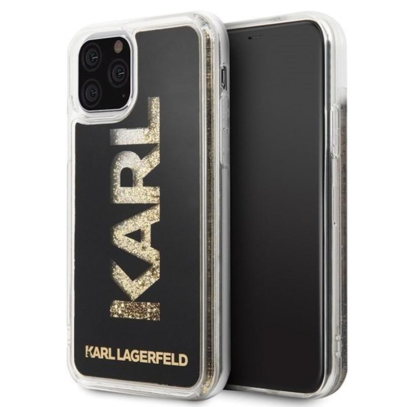 Karl Lagerfeld kryt na iPhone 11 Pro Glitter Black
