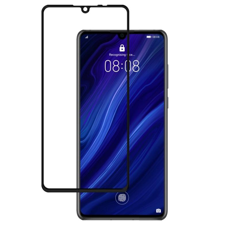 Ochranné tvrdené 3D sklo Black Huawei P30