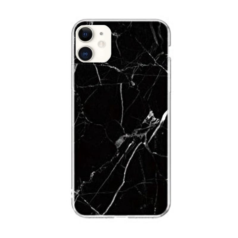 Silikónový kryt na iPhone 11 Black Marble