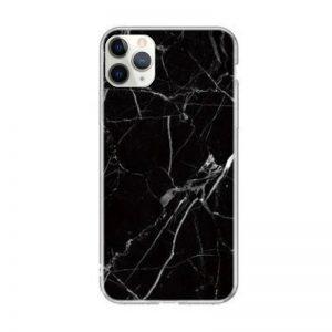 Silikónový kryt na iPhone 11 Pro Black Marble