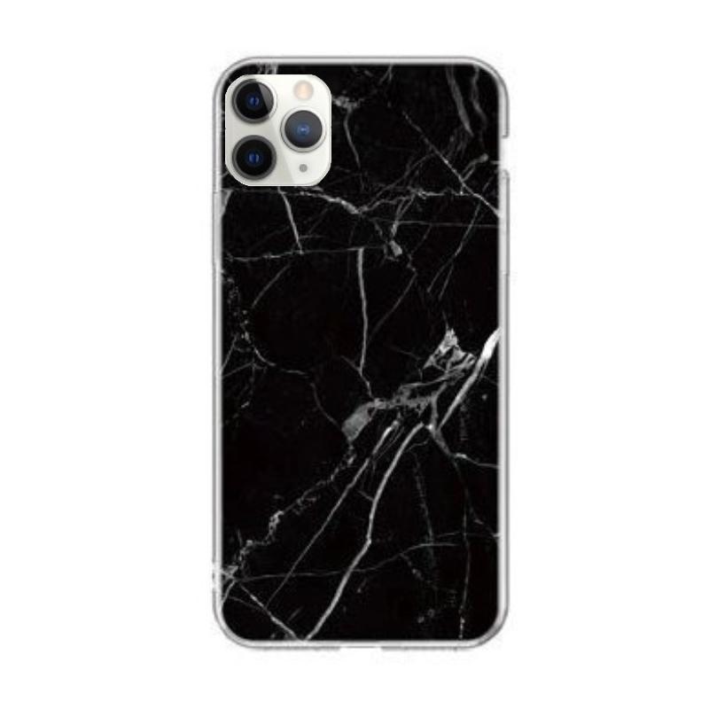 Silikónový kryt na iPhone 11 Pro Max Black Marble