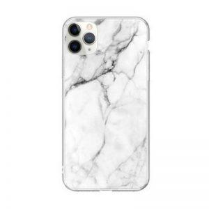 Silikónový kryt na iPhone 11 Pro Max White Marble