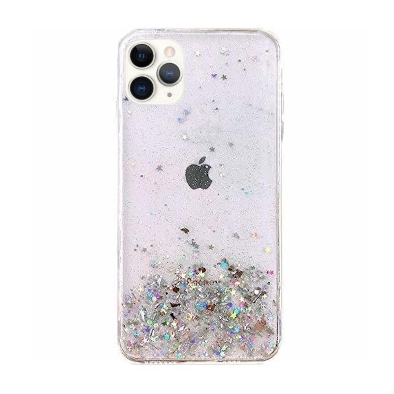 Silikónový kryt na iPhone 11 Pro Stars Glitter Transparent
