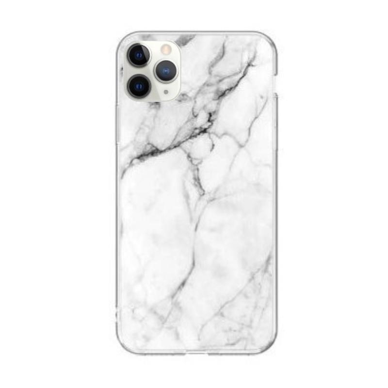 Silikónový kryt na iPhone 11 Pro White Marble