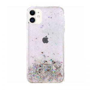 Silikónový kryt na iPhone 11 Stars Glitter Transparent