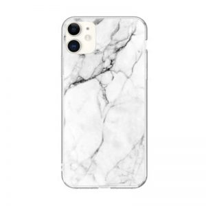 Silikónový kryt na iPhone 11 White Marble